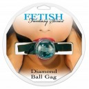 Fetish fantasy diamond ball gag blue